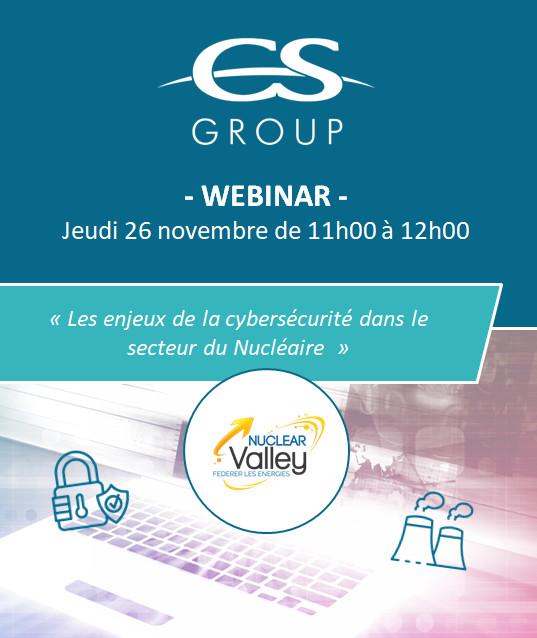 Webinar organisé par CS GROUP lors du Nuclear Valley - le 26 novembre de 11h à 12h